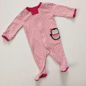 Gymboree footed pjs with stars and penguin